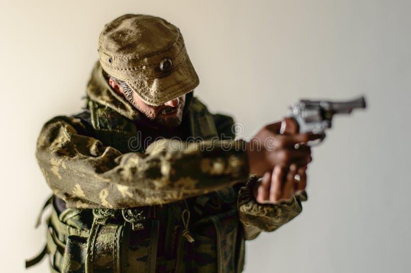 Zabawkarskiej mężczyzna żołnierza akci postaci miniatury realistyczny jedwab fotografia royalty free