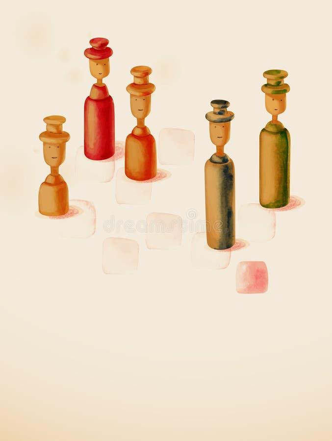 Zabawki i strategia. royalty ilustracja