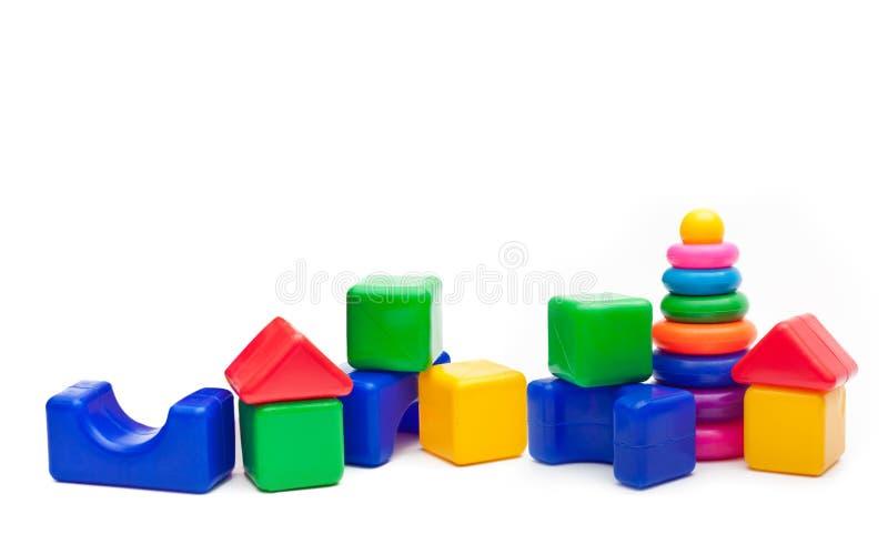 Zabawki odizolowywać na białym tle. obrazy royalty free