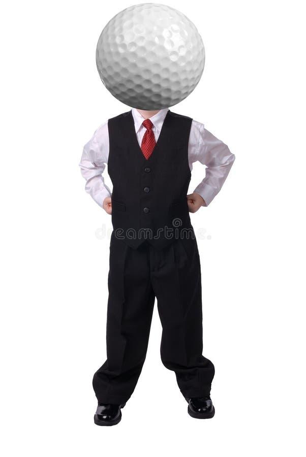 zabawna businessboy głowy fotografia stock