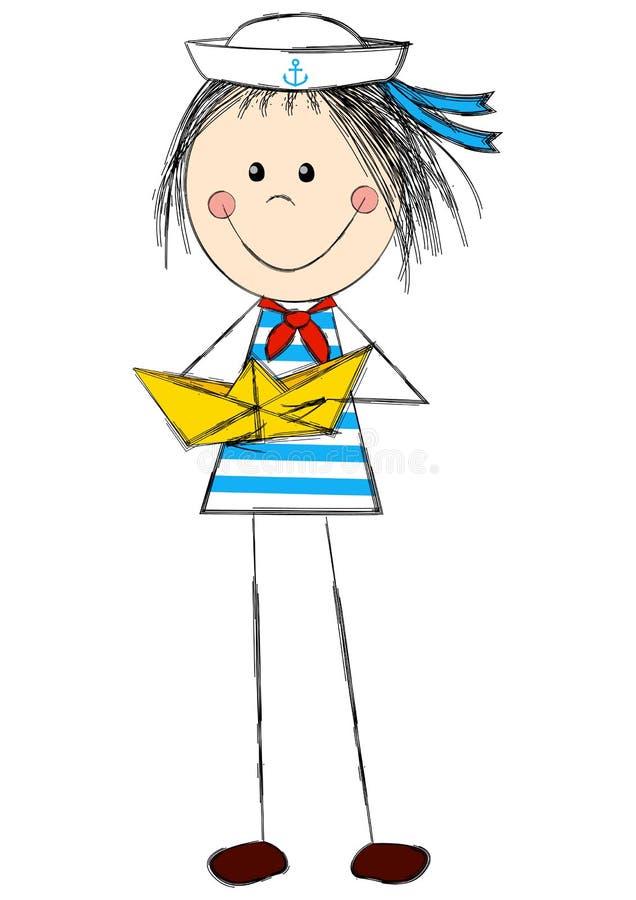 zabawna dziewczyna ilustracja wektor