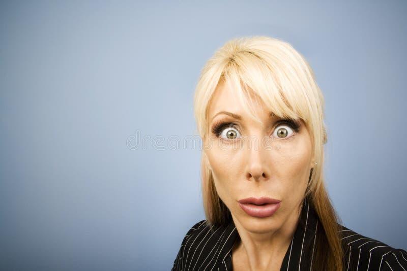 zabawne, bizneswoman twarzy obraz stock