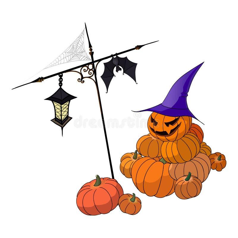 zabawne dynie Halloween obraz royalty free