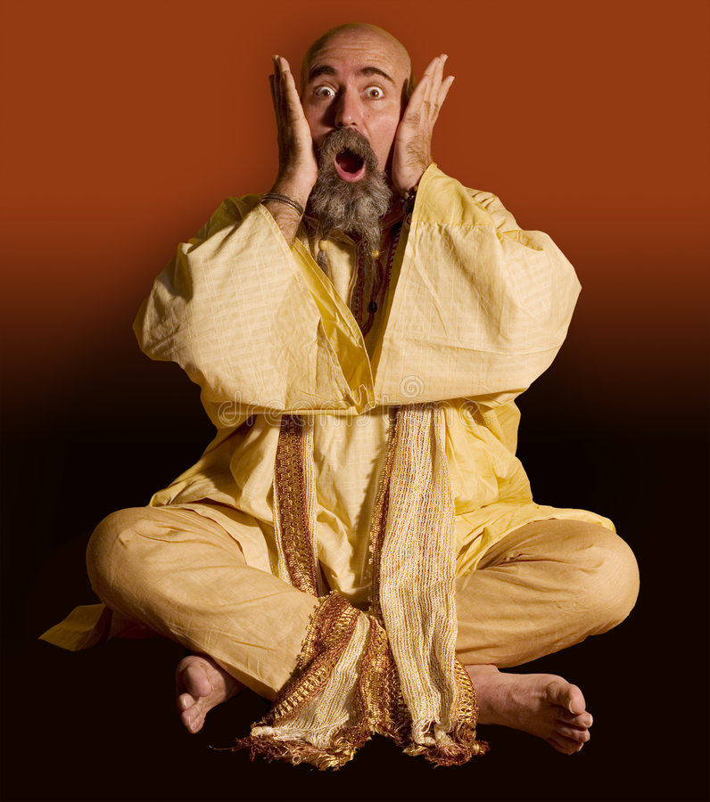 zabawne guru zdjęcie royalty free