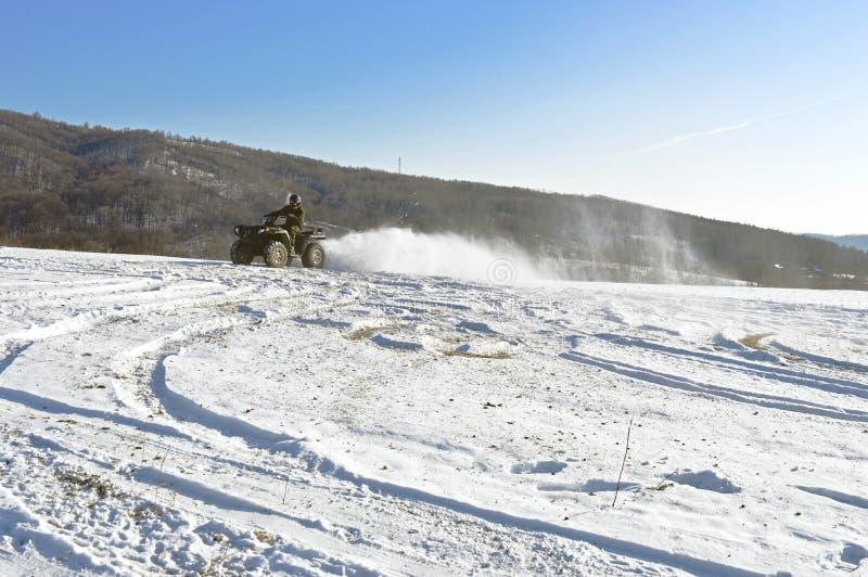 zabawnie kierowcy sledge zimy zdjęcia royalty free