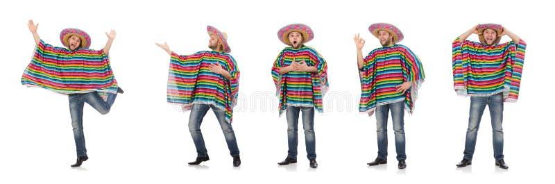 Zabawny meksykan wyizolowany na biało zdjęcia stock