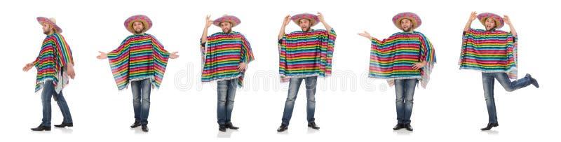 Zabawny meksykan wyizolowany na biało fotografia stock