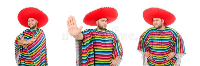 Zabawny meksykan wyizolowany na biało zdjęcie stock
