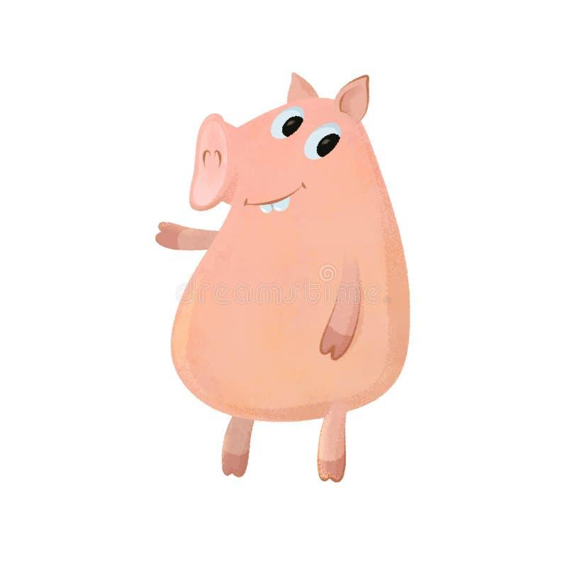 Zabawy świni kreskówka ilustracja wektor