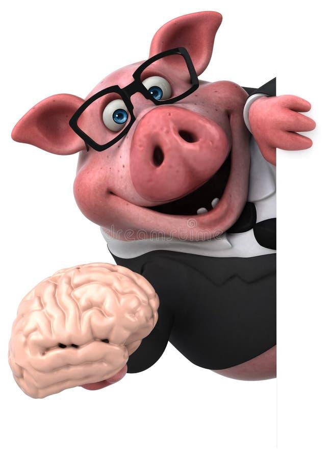 Zabawy świnia - 3D ilustracja ilustracja wektor
