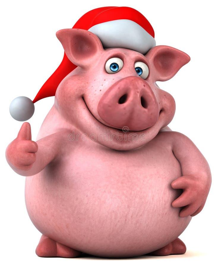 Zabawy świnia - 3D ilustracja royalty ilustracja
