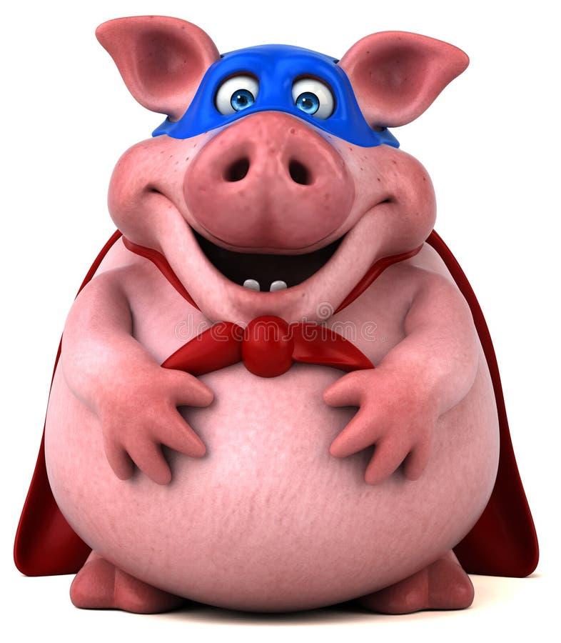 Zabawy świnia - 3D ilustracja ilustracji