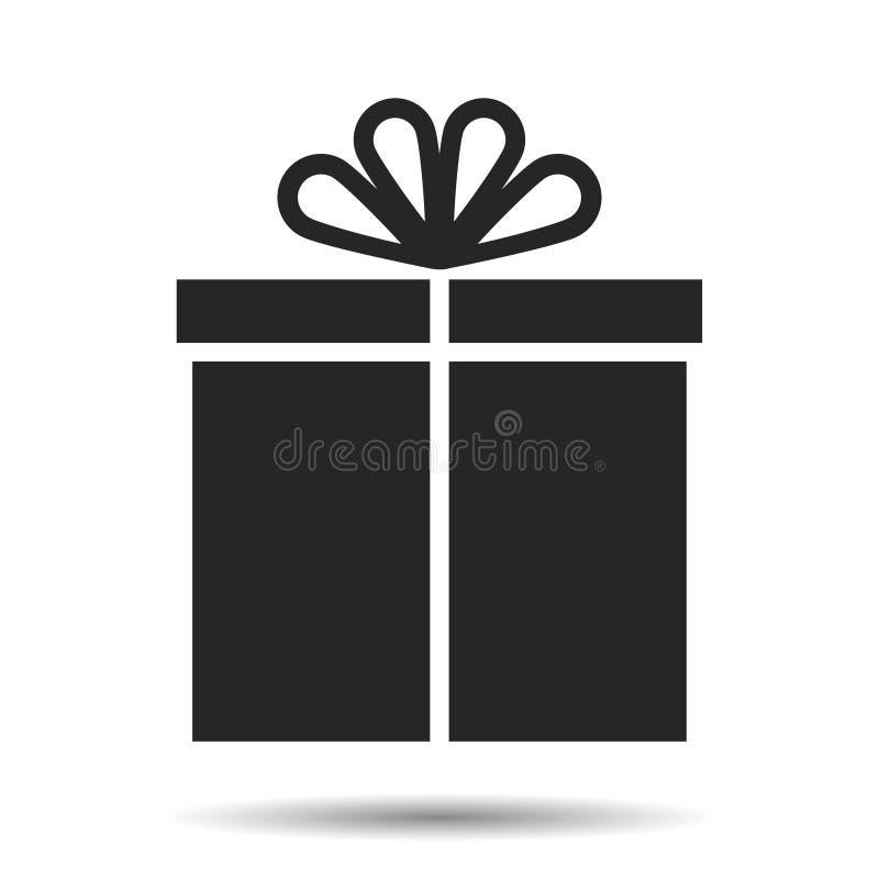 Zabawy ikony prezenta pudełko z zabawa łękiem prezent royalty ilustracja