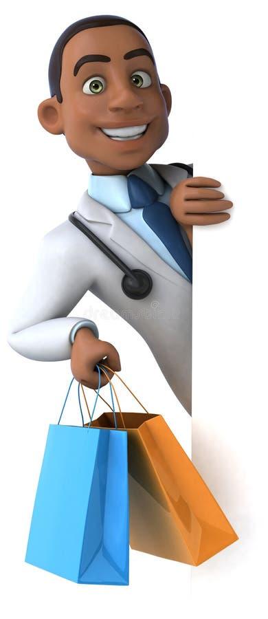 Download Zabawy lekarka ilustracji. Ilustracja złożonej z zakupy - 53787970