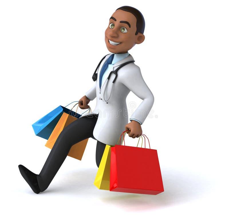 Download Zabawy lekarka ilustracji. Ilustracja złożonej z sprzedaż - 53787972