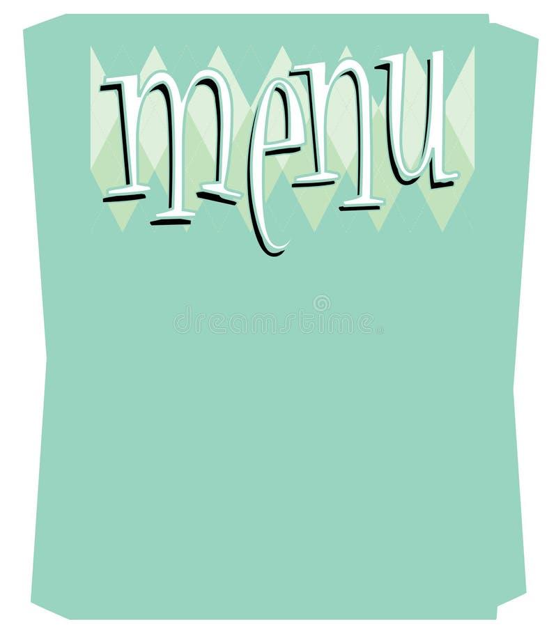 zabawy menu retro szablon ilustracji