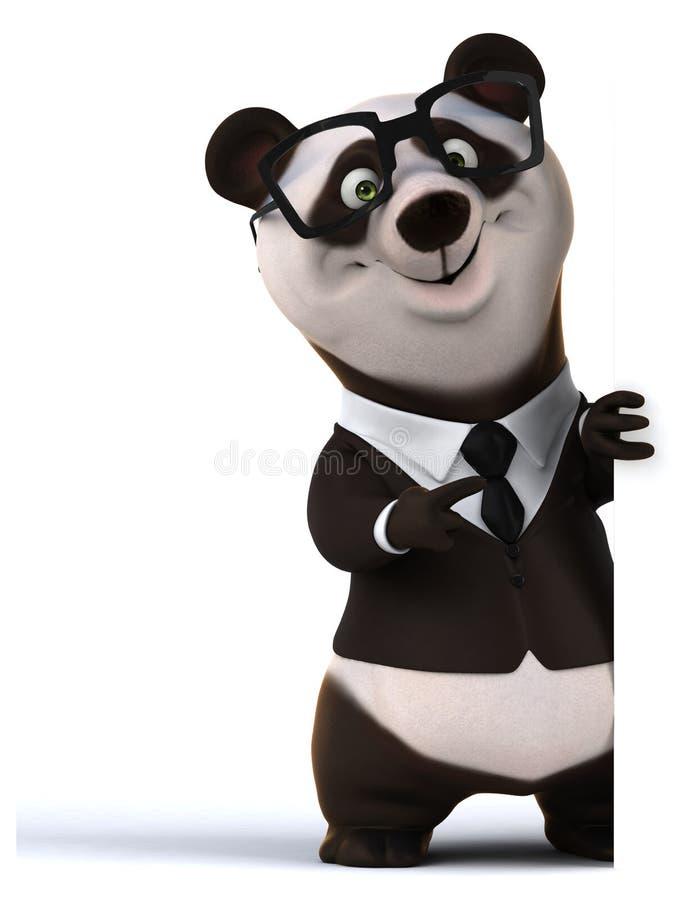 Zabawy panda royalty ilustracja