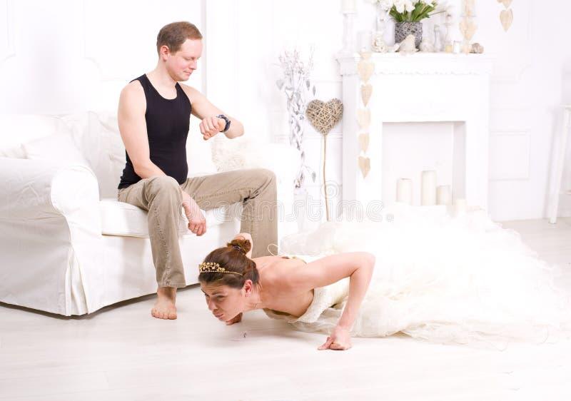 Zabawy para yogis zdjęcia stock