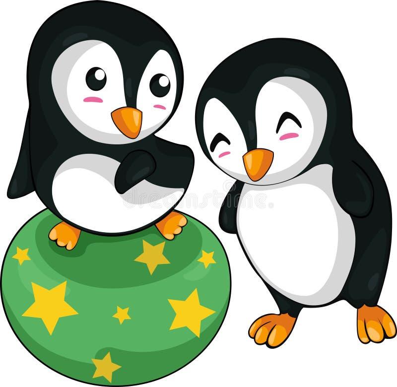 zabawy pingwinu wektor ilustracji
