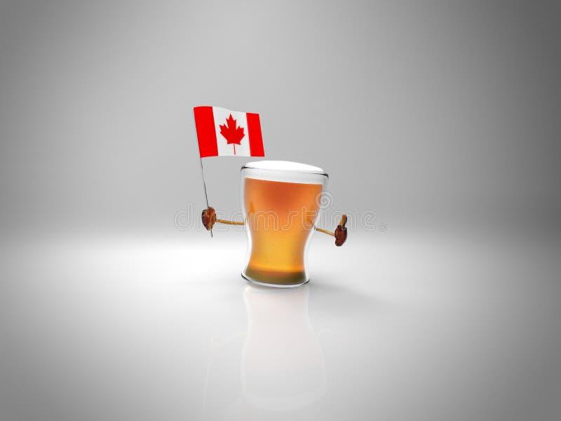 Zabawy piwo royalty ilustracja
