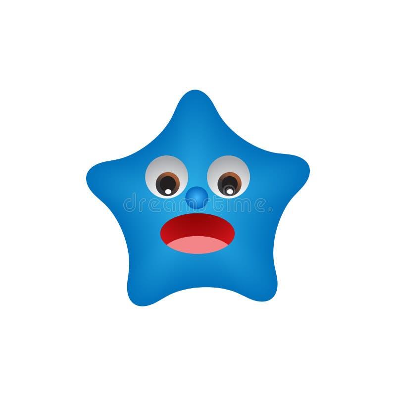 Zabawy postać z kreskówki śliczna gwiazda ilustracja wektor