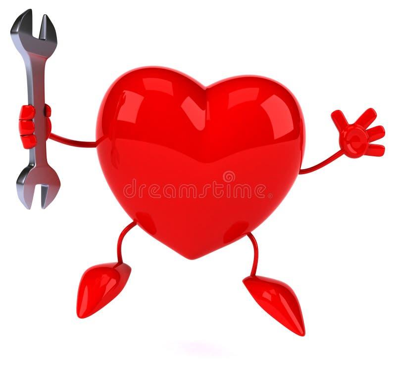 Zabawy serce ilustracji
