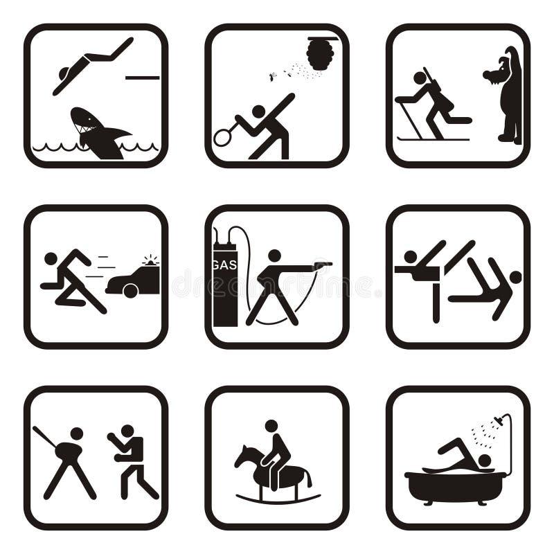 zabawy sporta symbole royalty ilustracja