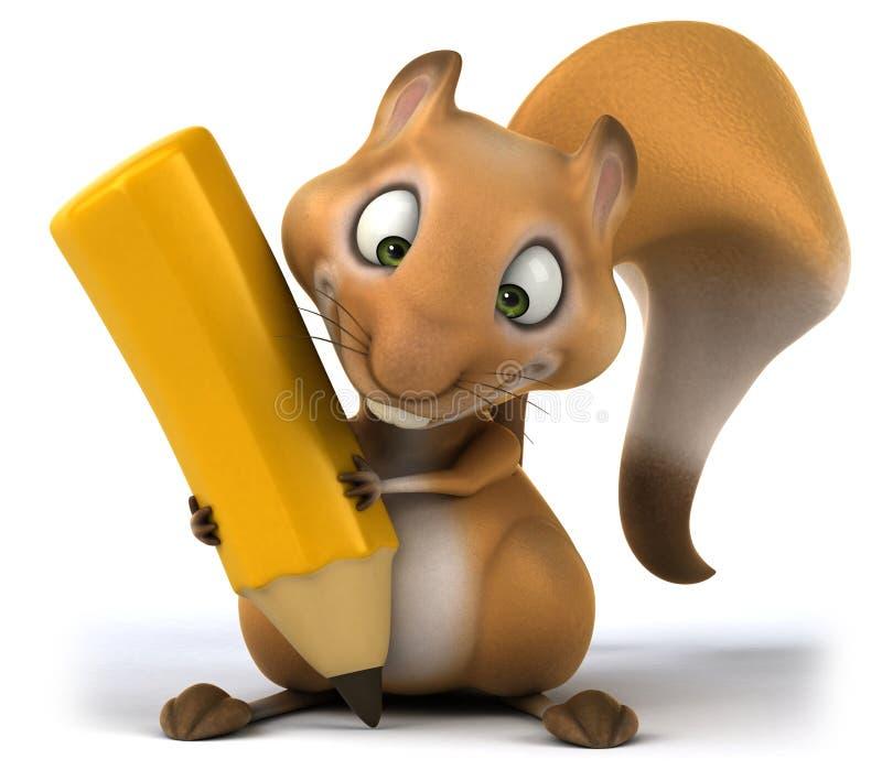 Download Zabawy wiewiórka ilustracji. Ilustracja złożonej z arte - 53793047