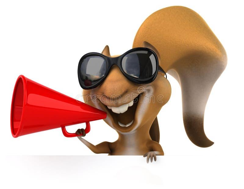 Download Zabawy wiewiórka ilustracji. Ilustracja złożonej z odosobniony - 53793108