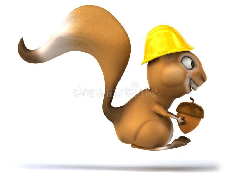 Download Zabawy wiewiórka ilustracji. Ilustracja złożonej z pracownik - 53793777