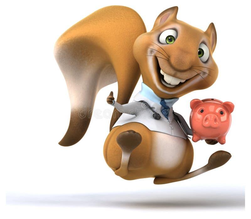 Zabawy wiewiórka ilustracji