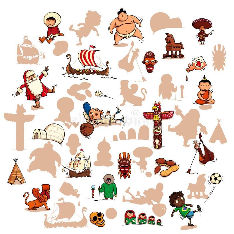 Zabawy Wizualna gra: Znajduje prawego lustrzanego cień royalty ilustracja