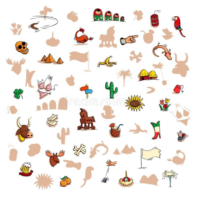 Zabawy Wizualna gra: Znajduje prawego lustrzanego cień ilustracji