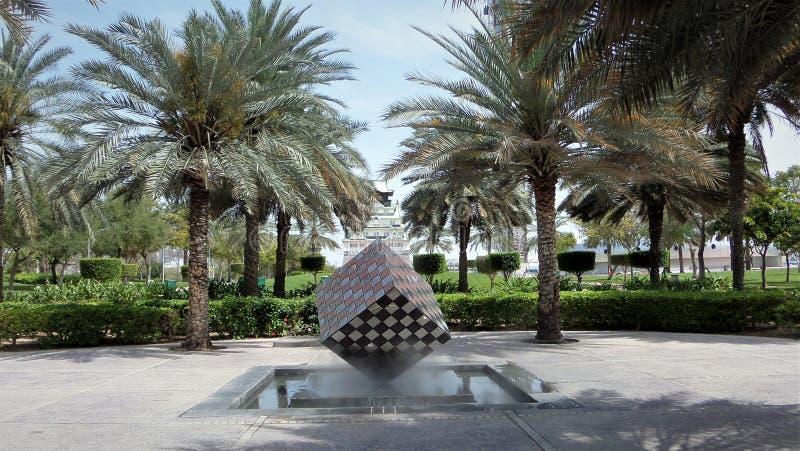 Zabeel parkerar Dubai United Arab Emirates arkivfoto