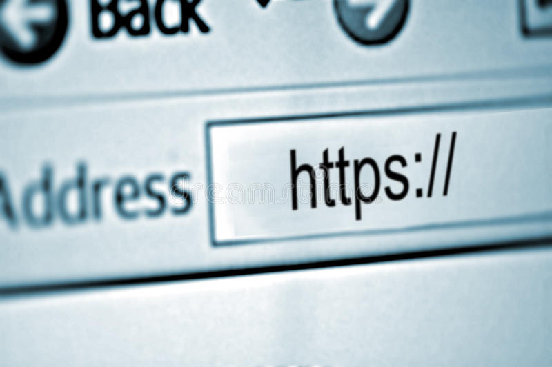 zabezpieczać stronę internetową zdjęcie stock