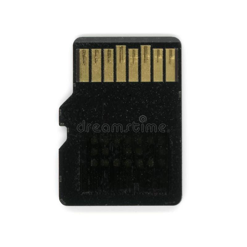 zabezpiecza Cyfrowej pamięci kartę (mikro SD) obraz stock