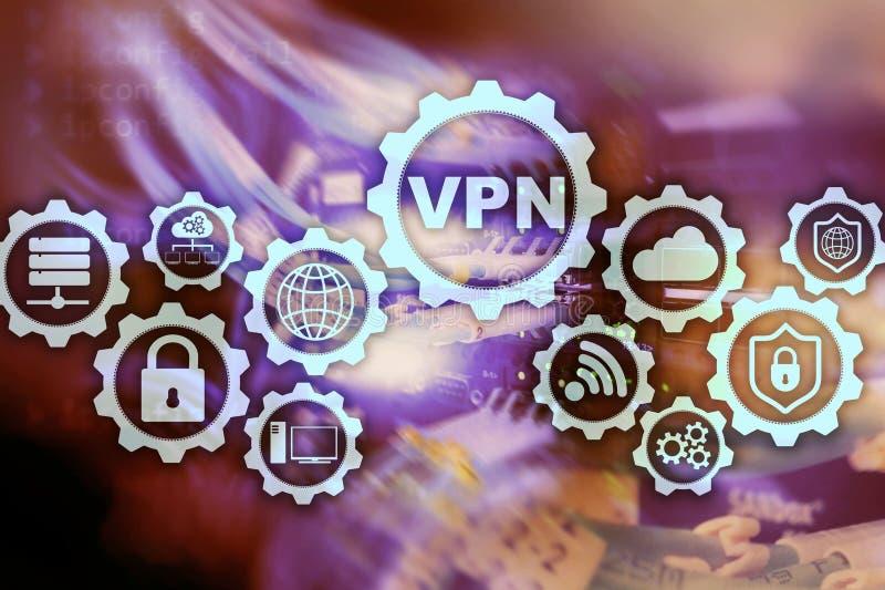 Zabezpiecza VPN zwi?zek Virtual Private Network lub Internetowy ochrony poj?cie royalty ilustracja