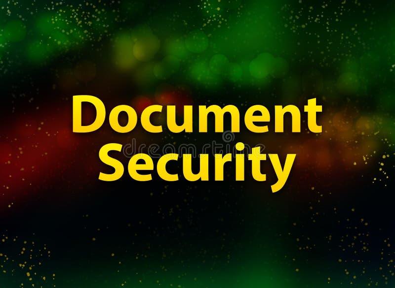 Zabezpieczenia dokumentu — streszczenie na ciemnym tle royalty ilustracja