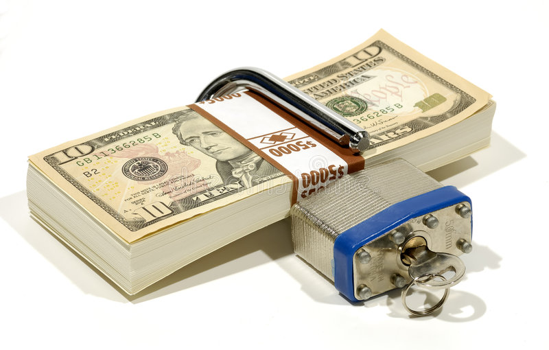 zabezpieczenie finansowe obraz stock