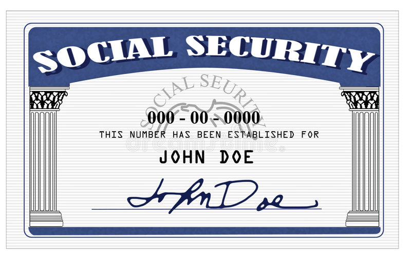 zabezpieczenie społeczne karty, ilustracja wektor
