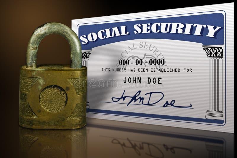 zabezpieczenie społeczne karty, fotografia stock