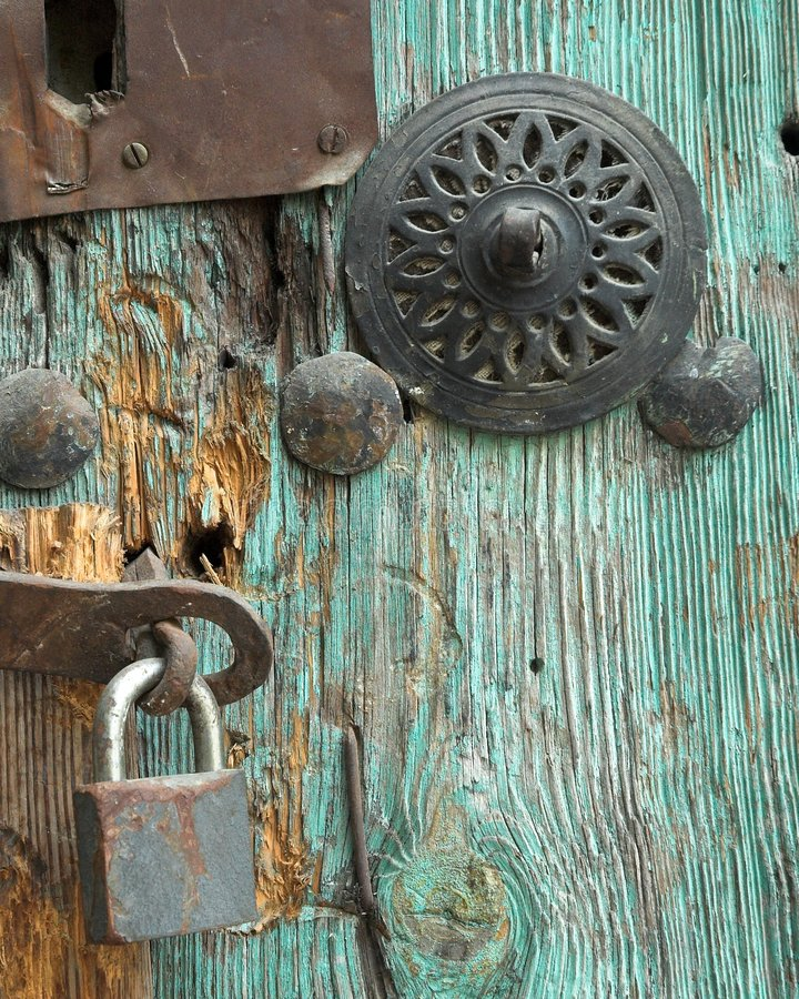zablokować drzwi rocznik obrazy royalty free