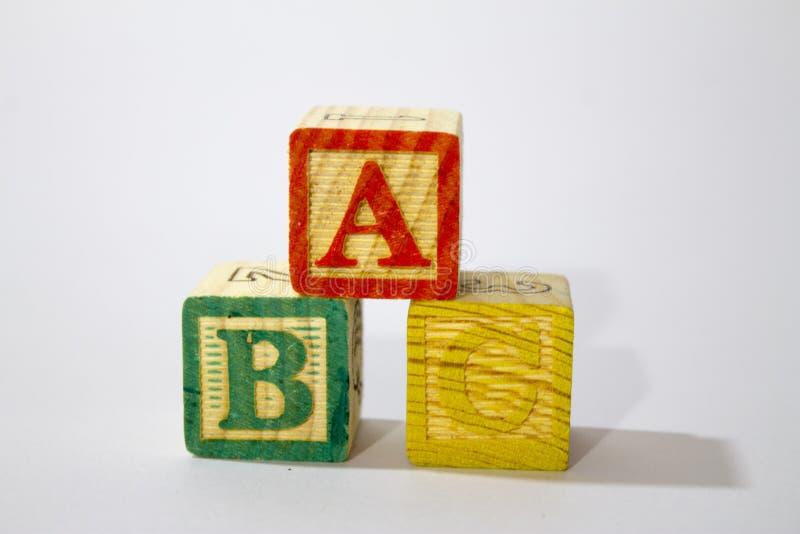 zablokuj drewnian? alfabet zdjęcie royalty free