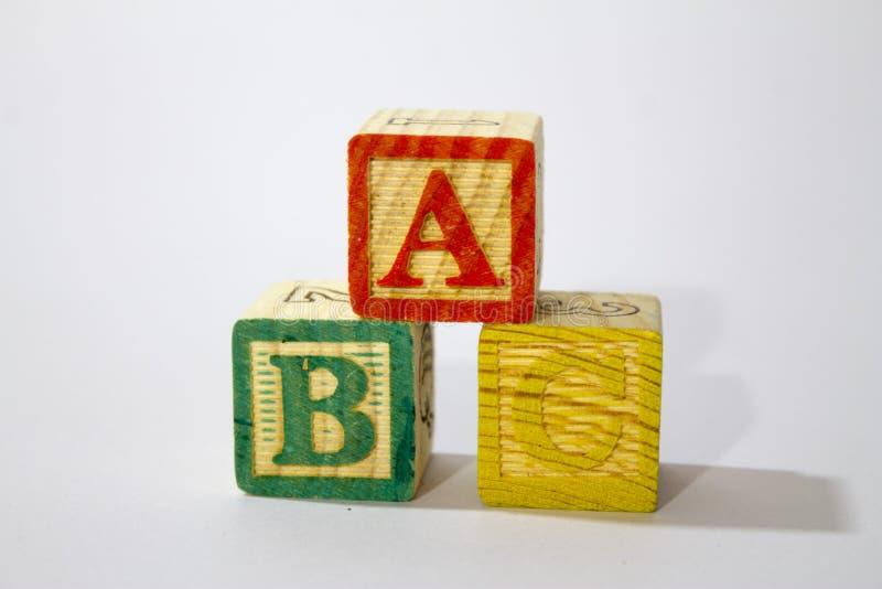 zablokuj drewnian? alfabet zdjęcia stock