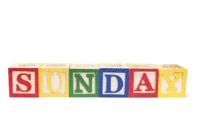 zablokuj Niedzielę alfabet zdjęcia royalty free