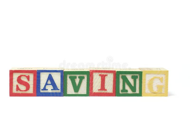 zablokuj oszczędności alfabet fotografia stock