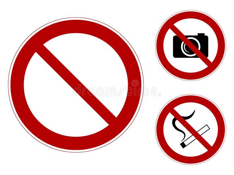Zabraniać znaki ilustracji