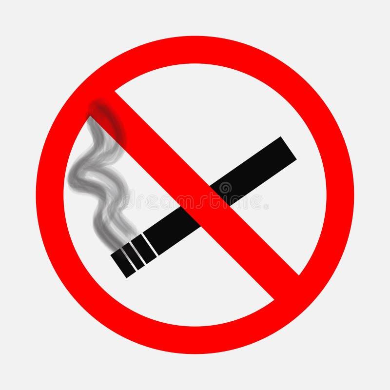 Zabraniać znaki, Palenie zabronione znak ilustracja wektor