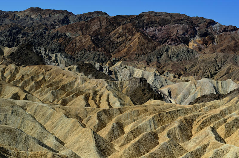 Zabriske Point, Death Valley National Park, California, USA stock photography