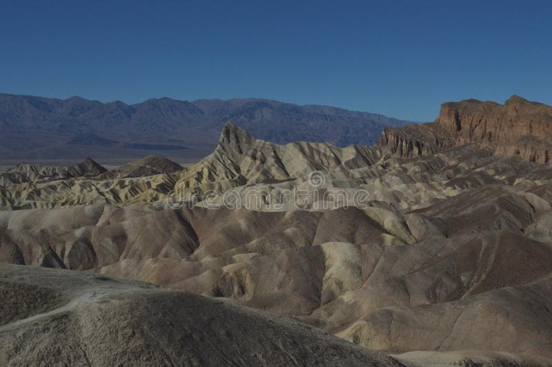 Zabriske punkt, Death Valley royaltyfri fotografi